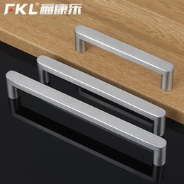 Wholesale Drawing Cabinets - Modern 304 Stainless Steel Cabinet Drawer Cabinet Cabinet Door Handle Drawing Silver Furniture Wardrobe Door Knob Dresser Pull
