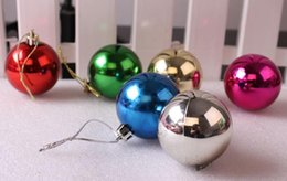Wholesale Blue Baubles - Christmas Tree Balls Baubles with strings Xmas Tree Hanging Party Ornament XMAS Decor 30mm Festive Party Supplies