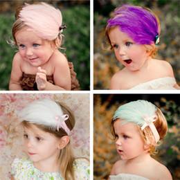 Européen et Américain Populaire Plume Hairband 6 Couleurs Enfants Filles Princesse Bandeau Fête De Mariage Accessoires De Cheveux Tête Décoration B487 ? partir de fabricateur