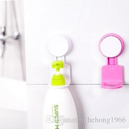 Wholesale Suction Cup Wall Hook - Creative No Trace Wall Rack Strong Suction Cup Sucker Shower Gel Storage Hooks Resuable Removable Plastic Stand Household 2 5cn B