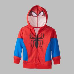 Blousons enfants spiderman en Ligne-3-5Y Marvel Spiderman Garçons Costume Hooide sweat garçons hoodies deguisement enfants garcon cocuk mont hiver veste enfants livraison gratuite