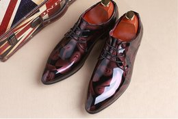 Wholesale Old Fashion Wedding Dresses - Dress shoes men plus size 37-48 lace-up old skool waterproof derby shoes fashion spring autumn retro casual shoes