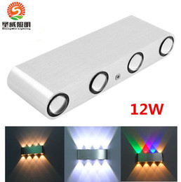 Wholesale Bathroom Sconces Lighting - hot sale Led wall light 12W 1000lm AC85-265V modern aluminum lamp wall sconce surfaced mounted light fixtures indoor bathroom free shipping