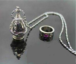 Wholesale Madoka Set - New Puella Magi Madoka Magica Akemi Homura Cosplay Soul Gem Necklace Ring set