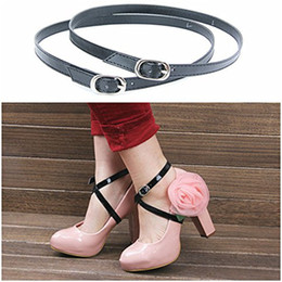 Wholesale High Strappy Wedge - Ankle Strap Sandals Ladies Shoes PU-Leather Shoe Straps Women Wedge Platform Shoes Sandals Cork High Heel Strappy for Holding Loose Shoes