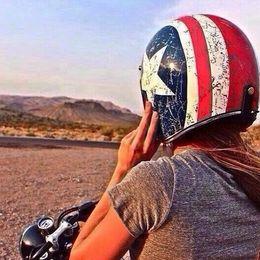 Wholesale Torc America Helmet - 2016 New Captain America flag TORC Harley style motorcycle hel2016 New Captain America met ABS Prince helmet T50 Team USA Motorcycle helmets