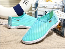 Wholesale Super Light Clay - The Sale Grey Black Slip-on New Summer 2016 Men Casual Shoes Super Flexible Pipe Eye Breathable Light Man Net Lazy People Comfortable Single