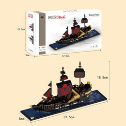 Wholesale Toys Micro Boats - HC Mini Blocks Anime One Piece DIY Building Bricks Black Pearl 3D Ship modeling Auction Figure Boat Micro Blocks Kids toys Girls Gifts