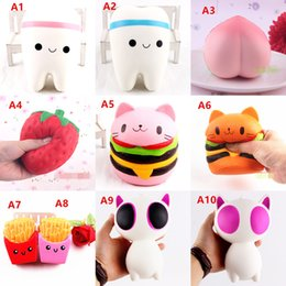Wholesale Kid Children Cell Phone - Squishy Toy pegasus squishies Slow Rising 10cm 11cm 12cm 15cm Soft Squeeze Cute Cell Phone Strap gift Stress for children toy