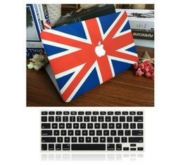 """Wholesale Apple Keyboard Uk - UK Flag Rubberized Hard Case Free Keyboard Cover for Apple Macbook Pro   Air   Retina 12 13 15"""" Air 11 13""""inch"""