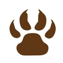 Wholesale Dark Red Vinyl - Wholesale 20pcs lot Home Decorations Automobile and Motorcycle with Products Vinyl Decal Car Glass window Stickers Jdm Wolf Paw Animal