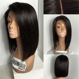 Wholesale Cheap Bob Style Wigs - Cheap Brazilian Human Hair Bob Wigs For Black Women Short Hair Lace Front Wig Bob Style 130% Density Glueless Bob Full Lace Wigs