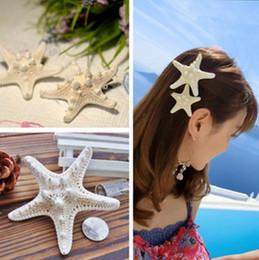 piezas de cabeza para niñas Rebajas Fascinator estrellas de mar pinza de pelo accesorios para niñas Stelleroid Bobby Pins mar estrellas nupciales vendas asteroides boda cabeza piezas Prom headwear