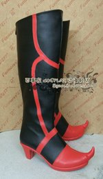 Wholesale Vocaloid Shoes - Wholesale-Vocaloid Yuezheng Ling Cosplay Boots shoes shoe boot #NC442 Halloween Christmas