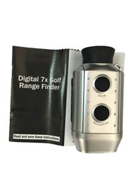 Wholesale Digital Golf Range Finder - Golf Rangefinder Optic Scope 7x18 Golf Digital Range Finder Monocular Telescope 7X Zoom Golf Training Tools With Package Free Shipping