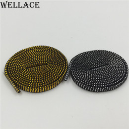 Wholesale wholesalers for cool shoes - (30 pairs Lot) Wellace Sparkle flat Shiny Gold Shoe Laces Glitter Shoelace for Sports Canvas Sneaker athletic coolest shoelaces online