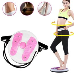 Wholesale Twister Plate Fitness - Wholesale- Sports Rope Twist Board Twister Plate Fitness Sports Equipment Home Rotation Massage For twist exerciser Load-bearing 85kg