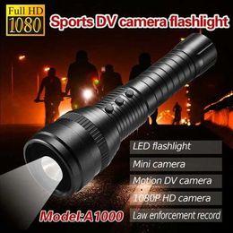 Wholesale Hidden Flash Light Led - 5pcs New 1080P HD LED Strong Light Flash Light Hidden Camcorder Sports DVR Spy Camera Motion DV Camera