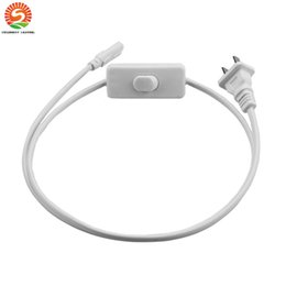 Wholesale Tube Light Wire Connectors - 6ft 180cm tube power cord LED Connector Wire t8 t5 2ft 3ft 4ft 5ft Cable for Integrated T8 T5 led lights In Stock