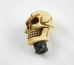 Wholesale Skull Shift Knobs Manual - Universal Manual Car Gear stick Shift Shifter Lever Knob Wicked Carved Skull New Decoration Gear Shift Knob