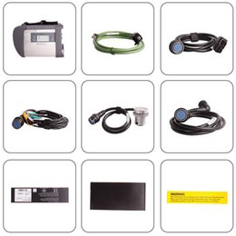 Wholesale Mercedes Compact - New MB Star Compact 4 full set with wifi support Multi-anguages SD Connect C4 For Mercedes Benz Diagnostic good quality DHL Fast Shipping