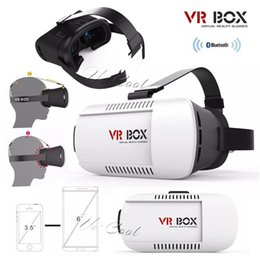 "Wholesale I Phone 3d - DHL Google Cardboard 3D VR Box I II Virtual Reality 3D Glasses Mount Helmet VR Case Bluetooth Controller For Iphone6Plus 3.5-6"" smart phones"