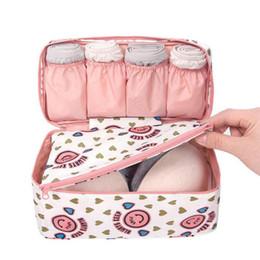 Wholesale Organizer Panties - Fashion Portable Multi Functional Travel Organizer Storage Bag Panties Bra Underwear Underpants Storage Box Cosmetic Make-up Bag