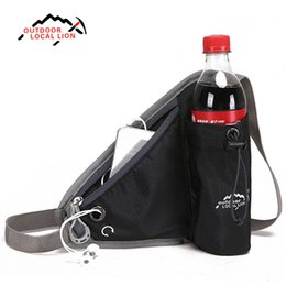 Wholesale Nursing Belts - Wholesale- LOCAL LION Unisex Running Travel Belt Money Nursing Waist Bag Fanny Pack Outdoor Cycling Bike Belt with Water Bottle Waist Bags