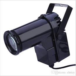 Wholesale Super Bright Color Led - Voice-activated LED Stage Light Effect EU Plug Disco Light Super Bright 10W LED Pin Spotlight Projector For Dance Celebration