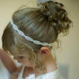 Wholesale Pro Princess - Wholesale- Hot Pro Models Upscale Princess Headbands Single Crystal Diamond Imitation Ribbons Tied Flower Girls Hair Band Wholesale Headwea
