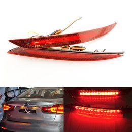luz de freno de estacionamiento Rebajas 2 unids Auto Aparcamiento advertencia luces de Parada de freno luces traseras lámpara reflector faro antiniebla para Kia K3 Cerato Forte 2012-2014