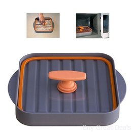 Wholesale microwave bowls - Microwave Bacon Bowl Bacon Baking Pan Non Stick Bacon Microwave Dish Kitchen Baking Tool 48pcs OOA3516