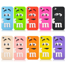 Wholesale 3d Chocolate Iphone Case - 3D Cute Cartoon Case For Iphone 7 Chocolate Candy Monster Soft TPU Silicone Rubber Phone Case Cover For Iphone 6S Plus 6S 5S