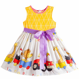 Wholesale Cartoon Character Costume Princess - Kseniya Kids Baby Girls Fashion Cotton Dress Animal 2017 Brand Summer Princess Dress Cartoon Children Costume For Kids Dresses