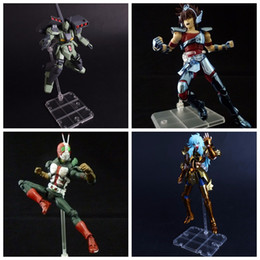 Wholesale white robot toy - 5pcs set Cool Action Support Type Model Soul Stand Bracket for STAGE ACT suit for figma SHF robot Saint Seiya DBZ Model Figure toy