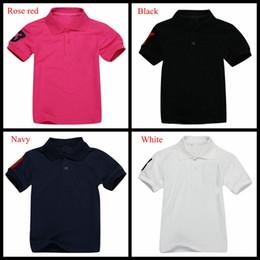 Camisa dos meninos 13 on-line-Marca camisa crocodilo bordado topos de estudante T-shirt grande verão crianças puras camisas pólo meninos cor do verão sólidos 13 cores diferentes