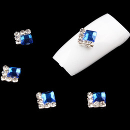 Wholesale Nail Clear Alloy Rhinestone - New 3D Nail Art Decorations Diy Glitter Silver Alloy Charm Clear Rhinestones For Nail Art Light Blue Crystal For Nails Tools