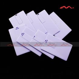 Wholesale True Memory Flash Drives - 10PCS 128MB 256MB 512MB 1 2 4 8 GB Credit Card USB Drive Sticks Memory Flash True Capacity Pendrives Blank White Suit for Custom Logo Print
