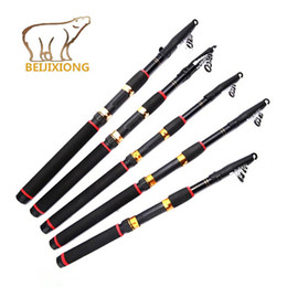 Wholesale Carbon Sea Rod - 2.1~3.6m Telescopic Fishing Rod fit for shimano reel sea boat spinnning rods feeder tackle vara de pesca canne a peche B64