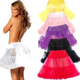 robes tutu sophistiquées Promotion Livraison gratuite Cheap Underskirt Swing Vintage Petticoat Fancy Net Skirt Rockabilly Tutu Multi Color pour Dressing de pageant CPA216