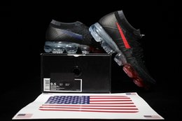 Wholesale Country Uk - Country Pack New Vapormax Man ShoesTrainer UK USA Germany Sports Running shoes Athletic tennis sneaker Black White 849557 333 Running shoes