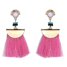 Wholesale Ethnic Earrings For Women - Brand Drop Earrings For Women Bohemian Ethnic Big Long Tassel Earrings Fashion Jewelry Style Earrings Female