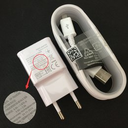 s3 исходный кабель для передачи данных Скидка Wholesale-100% Original Adaptive Fast Charging EU Plug travel Charger + 1.5M Micro Usb Data Cable for  Galaxy S3 S4 S6 Edge Note4