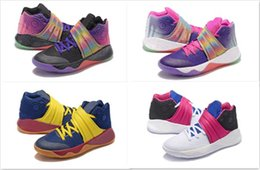 Wholesale Colourful Men - 2016 Colourful Irving Basketball Shoes 2 two high quality Sneakers Men Sports Shoes Kyrie Irving II Basketball fashion Boots