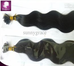 Wholesale Stick I Tip Wholesale - body wave stick I tip hair extensions unprocessed remy Brazilian Virgin hair cheap sunny grace hair product