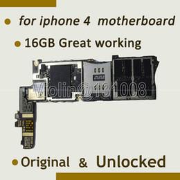 2019 desbloqueio de chip Atacado-Para Iphone 4 Motherboard Mainboard 16GB Frete grátis função completa Unlocked Original, Com Chips Full Logic Board desbloqueio de chip barato