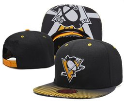 Wholesale Penguin Cap - 2016 Men's Pittsburgh Penguins Gradient Style Baseball Snapback Hats Sport Hockey Embroideried Character Logo Adjustable Caps In Black