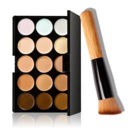 Wholesale Palette Corrector Makeup - 15 Color Corrector Concealer Contour Palette Corrective Contouring Makeup Concealer Palette Foundation Cosmetics Maquiagem cosmetic fabric