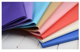 Wholesale Material Shopping Bags - DHL&SF_Express pure Color flat kraft paper present wrapping paper shopping packing bag decorate materials 50 sheet set