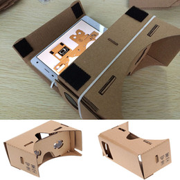 Wholesale Toolkit Wholesalers - Google Cardboard 3D Glasses DIY Mobile Phone Virtual Reality 3D Glasses Unofficial Cardboard Google Cardboard VR Toolkit 3D Glasses WX-G10